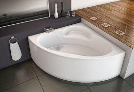 baignoire d'angle Royal Kolpa avec siège intégré 2 tailles
