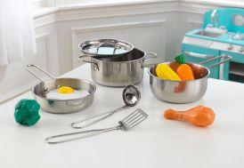 batterie de cuisine en métal et aliments plastique pour cuisine pour enfants