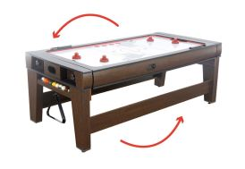 Table Réversible Billard Américain et Air-Hockey 217x107x81cm (l,l,h)