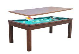 Billard Américain et Table Dinatoire 2 en 1 (213 x 111,8 x 81,5) cm