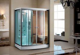 Cabine de Douche Hydromassante Sauna 165x110x215cm K-9706
