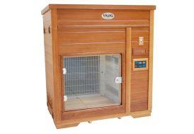 cabine de séchage et de chromothérapie avec panneaux infrarouges pour chien et cat