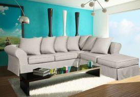 Canapé d'Angle Fixe Fibres et Bultex 245x94/244cm Canada (25 Coloris)