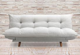 Canapé Clic-Clac Rembourré en Bois et Lin Pillow (pls coloris)