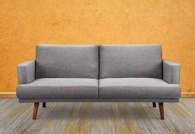 canapé convertible en lit gris confortable