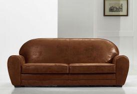 Canapé Aspect Cuir ou Cuir Véritable 3 Places Vintage 214x93x85cm (l,l,h)