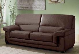 Canapé en Cuir Reconstitué 3 Places Viviane 192x88x90cm(l,l,h) - 5 coloris