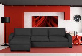 Canapé d'Angle Fixe Fibres et Bultex 266x165cm Amérique (25 Coloris)
