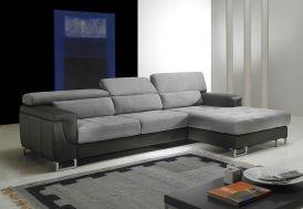 Canapé d'Angle en Cuir Véritable 3P Loft 277x173x75cm (l,l,h) - 2 coloris