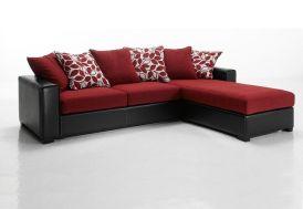 Canapé d'Angle Réversible en Tissu Kelly 255x180x86cm (l,l,h) - 4 coloris