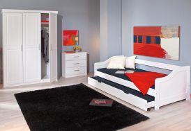 Chambre Complète : Lit 90x190 + Armoire 3P + Commode