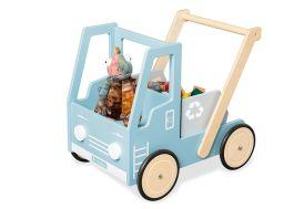 chariot de marche pour bébé trotteur en bois camion Pinolino