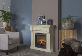 cheminée électrique blanche 94 cm foyer décoratif Optiflame Dimplex