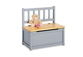 coffre à jouets banc en bois gris pinolino