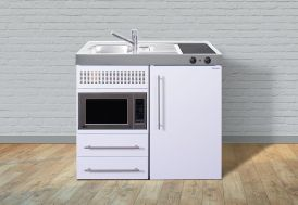 kitchenette armoire en bois 120x65x204cm 9 coloris stengel. Black Bedroom Furniture Sets. Home Design Ideas