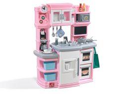 Cuisine pour enfant en plastique rose Step 2 toute équipée et interactive