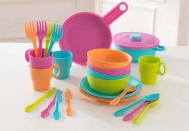 dinette en plastique pour cuisine pour enfants 27 pièces