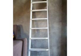 échelle de meunier en bois laqué blanc 11 marches