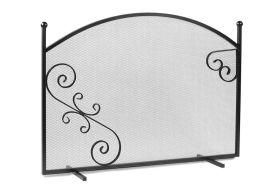 pare-feu pour cheminée 100 cm de long par 72 cm de haut en acier