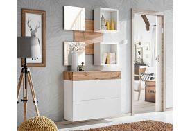 Ensemble meuble mural en bois commode étagères et miroirs meubles de chambre ASM Easy V