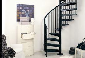 Escalier en colimaçon en acier noir diamètre 120, 140 ou 160 cm