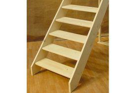 Escalier Droit Entaillé en Sapin (Sans contremarche)