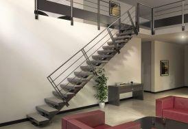 Limon Central Manhattan pour Escalier Droit en Acier (281 à 350 cm)