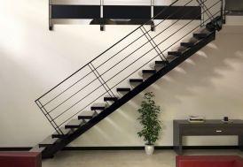Limon Central pour Escalier Droit en Acier (< 280 cm)