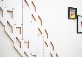 Escalier pliable en bois HPL blanc Klapster Slim de 130 à 315 cm