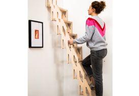 Echelle de meunier à plier contre le mur 130 à 315 cm Ultra Light huilé Klapster