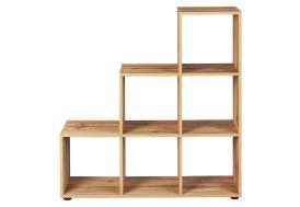 étagère en bois meuble de rangement bibliothèque avec 6 rangements