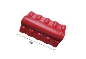Faitière Moulurée 72 cm pour Plaque PVC Imitation Tuile (Pls Coloris)