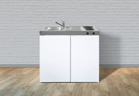 Kitchenette équipée réfrigérateur et plaques électriques