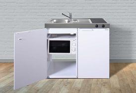Kitchenette Stengel MKM100 avec réfrigérateur, micro-ondes et plaque vitrocéramiques 100 cm