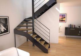 Limons Copenhague pour Escalier Demi Tournant en Acier (< 280 cm)