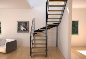 Limons Copenhague pour Escalier Demi Tournant en Acier (281 à 350 cm)