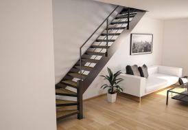 Limons Copenhague pour Escalier Quart Tournant en Acier (281 à 350 cm)