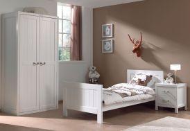 Chambre pour Enfant Complète avec Lit, Armoire 2 Portes, Chevet Lewis