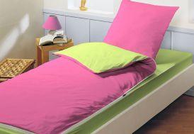 Lit Tout Fait Prêt à Dormir Caradou 90x190cm Rose Indien/Tilleul