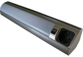 Barre Lumineuse Inox de 8 W avec Prise Électrique