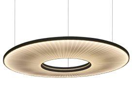 Luminaire Suspension Horizontale LED en Ruban Dix Heures Dix Iris Ø 80 cm