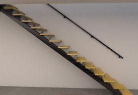 Main Courante pour Limon en Acier Escalier Métal