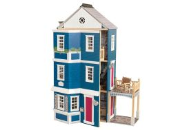 maison de poupées en bois géante 2 parties pour enfants