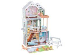 Maison de poupées Kidkraft en bois Hallie avec accessoires interactifs