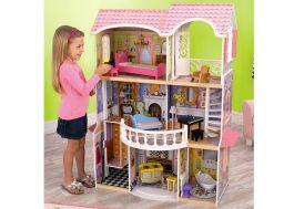grande maison de poupées pour enfants 1,20 m en bois peint
