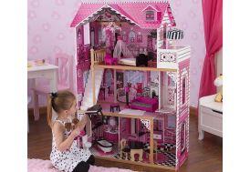 maison de poupées en bois rose barbie 1,20 m 3 étages