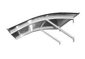 marquise plongeante Atlanta en aluminium et polycarbonate 120 x 90 x 26 cm