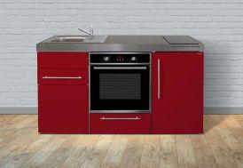 Kitchenette rouge pour studio moderne