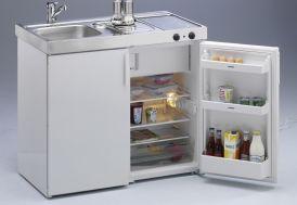 Mini-Cuisine avec Frigo et Vitrocéramique MK100 Blanche