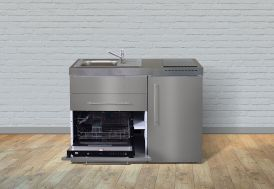kitchenette en inox Stengel 120 cm avec lave vaisselle